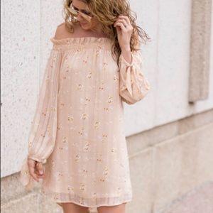 Wayf Off the shoulder Floral dress